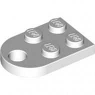 3176-1 Platte plaat 2x2 met gat voor trekhaak (oog) wit NIEUW *1L324