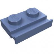 32028-55 Platte plaat 1x2 met deurrail blauw, zandkleurig NIEUW *1L290/5