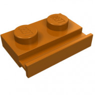 32028-68 Platte plaat 1x2 met deurrail oranje, donker NIEUW *1L316/5