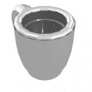 33054-22G Scala kopje chrome zilver gebruikt *0L0000