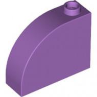 33243-157 Steen, 1x3x2 ronde top 90 graden massief lavender, midden NIEUW *1L0000