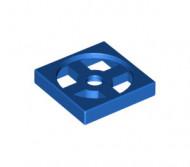 3680-7 Draaischijf 2x2 - ALLEEN BODEM blauw NIEUW loc