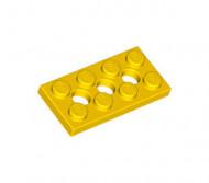 3709b-3G Technic, Plaat 2x4 met gaten geel gebruikt *