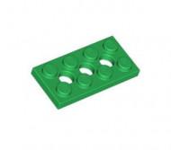 3709b-6 Technic, Plaat 2x4 met gaten groen NIEUW *