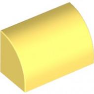 37352-103 Dakpan 1x2x1 halfrond geel, lichthelder NIEUW *1B000