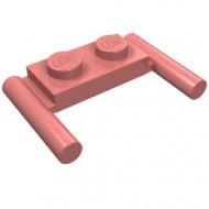 3839b-58 Platte plaat 1x2- 2 hendels lagere setting rood, zandkleurig NIEUW *1L319/11