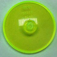 3960-16 Schotel 4x4 transparant, neongroen NIEUW *L16-3