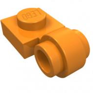 4081b-4 Platte plaat 1x1 met gesloten clip (dikke ring) oranje NIEUW *1L289/5