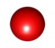 41250-5 Grote bal (doorsnede 52 mm) rood NIEUW *0L0000