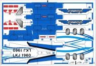 42025stk01 STICKER Cargo plane NIEUW loc