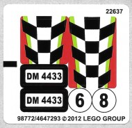 4433stk01 STICKER Dirt Bike transporter NIEUW loc