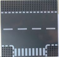 44341pb01-85 Wegenplaat 32x32 zijweg grijs, donker (blauwachtig) NIEUW loc