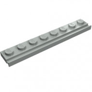 4510-9 Platte plaat 1x8 met deurrail/dakgoot lichtgrijs (klassiek) NIEUW *1L291/6