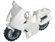 52035c01-1G Motorfiets (NIEUWE type) VERZENDING ALLEEN PER PAKKETPOST!! wit gebruikt *5D0000