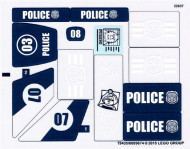 60069stk01 STICKER 60069-1 Swamp Police Station NIEUW loc