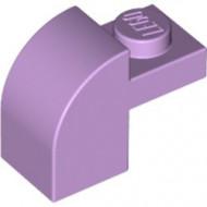 6091-154 Steen 2x1 met afgeronde kop en nop lavender NIEUW *1L0000