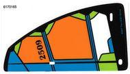 "6170165-12 Zeil 10x19 Driehoek zwart ""2509""(plastic) Transparant NIEUW loc"