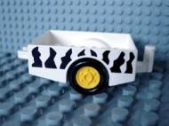 6505pb02-1G DUPLO Aanhangwagen SAFARI strepen Wit gebruikt loc