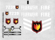 7239stk01 STICKER Fire Truck NIEUW *0S0000