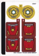 76140stk01 STICKER 76140 Iron Man Tech NIEUW loc