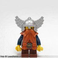cas373 Dwerg met zilveren helm met veugeks NIEUW loc