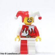 cas437 Jester/Harlekijn, rood/wit NIEUW loc