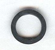 x151a-11G Rubber bandje klein DIK  (1 1/2 nop diameter) Zwart gebruikt loc