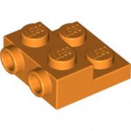 99206-4 Platte plaat 2x2x2/3 met 2 noppen zijkant oranje NIEUW *1L0325