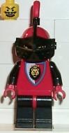 cas063G Royal Knights - Rode helm, zwart vizier rode pluim, leeuwen gebruikt loc
