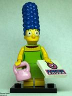 colsim-3 Marge Simpson met handtas en tegel met donut, en standaard NIEUW loc