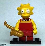 colsim-4 Lisa Simpson met saxofoon en standaard NIEUW *0M0000