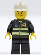 cty0044G Brandweer, reflectiestrepen, brandweerhelm, boos gezicht gebruikt *0M0000