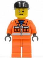 cty0051G Zwarte cap, oranje pak en benen gebruikt *0M0000