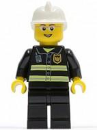 cty0056G Brandweerman met bril en open glimlach gebruikt *0M0000
