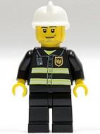 cty0093G Brandweer reflectiestrepen witte helm (ass 20110 gebruikt loc
