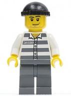 cty0200G Gevangene, zwarte keppel, gestreept hemd met nummer gebruikt *0M0000