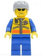cty0243G Kustwacht- Kayaker, zonnebril, grijze helm met gaatjes, geel/blauw pak gebruikt loc