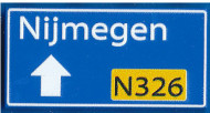 CUS1100 Routebord Nijmegen N326 (2x4) blauw NIEUW *0A000