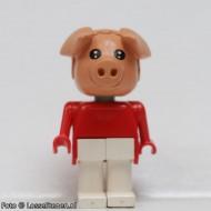 fab11dG Varken 4- Rode trui, witte broek gebruikt *2R0000