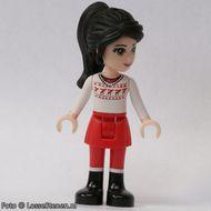 frnd054 Friends- Lily, rode broek, wit shirt met rendier NIEUW loc