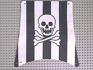 sailbb31-1G Zeil vierkant zwarte strepen doodshoofd wit gebruikt *5D000