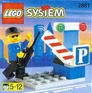 Set 2881 BOUWBESCHRIJVING- Parkeerwachter met slagboom Auto gebruikt loc LOC M1