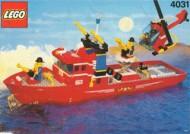 Set 4033 BOUWBESCHRIJVING- Brandweerboot Politie Boot gebruikt loc
