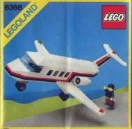 Set 6368 BOUWBESCHRIJVING- Jet Airliner gebruikt loc