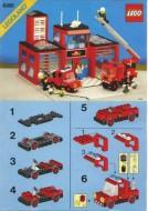 Set 6385 BOUWBESCHRIJVING- Fire House gebruikt loc LOC M4