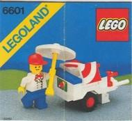 Set 6601 BOUWBESCHRIJVING- Ice Cream Cart gebruikt loc LOC M3