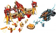 Set 70146 - Legends of Chima: Flying Phoenix Fire Temple zonder doos- gebruikt