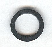 x151a-11G Rubber bandje klein DIK (1 1/2 nop diameter) zwart gebruikt *0W000