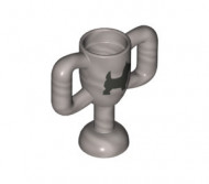 10172pb001-95 Trofee, beker MET AFBEELDING HOND met 2 oren, klein (col16-12) Zilver, mat NIEUW loc