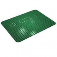 10p02-6G Basisplaat 24x32 sterk afgeronde hoek (classic) met witte stippen set 354/560 groen gebruikt *3K000